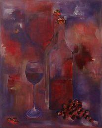 Rot, Abstrakt, Stillleben, Acrylmalerei