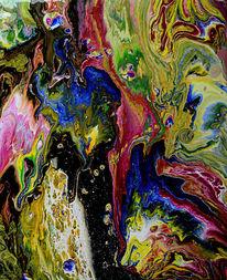 Malerei, Landschaft, Abstrakt, Malen