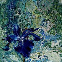 Malerei, Ölmalerei, Blumen, Abstrakt