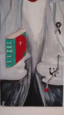 Bibel, Grau, Malerei,