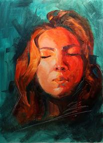 Pinsel, Ölmalerei, Fotoreferenz, Malerei
