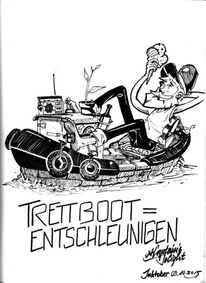 Tretboot, Inktober, 2015, Illustration