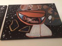 Kalt, Universum, Augen, Malerei