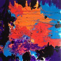 Malerei, Abstrakt, Acrylmalerei, 2015