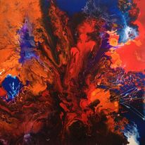 Acrylmalerei, Malerei, Abstrakt, 2015