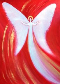 Engel, Rot, Ölmalerei, Malerei
