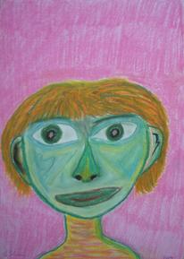 Kopf, Portrait, Frau, Menschen