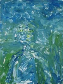 Mensch in natur, Acrylmalerei, Menschen, Grün