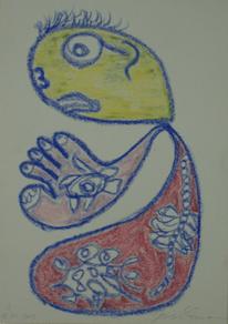 Figur, Bunt, Kopf, Pastellmalerei