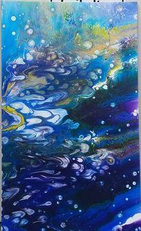 Acrylmalerei, Acryl pouring, Malerei