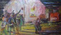 Mischtechnik, Acrylmalerei, Ölmalerei, Sprayfarbe