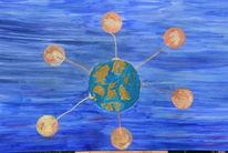 Ölmalerei, 9719, Abstrakt, Malerei