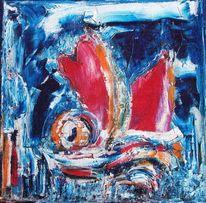 Blau, Rot, Fantasie, Meer