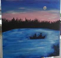 Blau, Rosa, Malerei, Natur