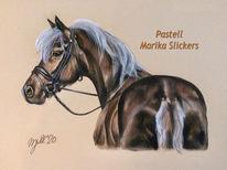Pastellmalerei, Malerei, Kutschpony, Pferde