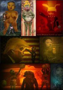 Raumschiff, Rot, Kaputt, Doomsday