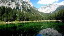 Berge, Grüner see, Natur, Wasser