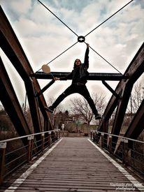 Natur, Ballon, Menschen, Brücke