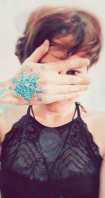Menschen, Tattoo, Schnee, Fotografie