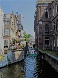 Boot, Stadt, Wasser, Haus