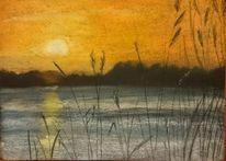Schild sonnenuntergang meer, Zeichnungen, Landschaften, Sonnenuntergang