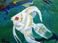 Mischtechnik, Acrylmalerei, Fisch
