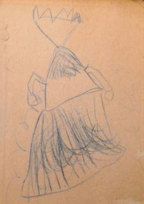 Märchen, Bleistiftzeichnung, Kinderzeichnung, Zeichnungen