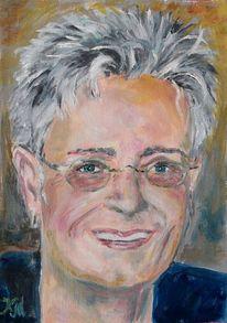 Portrait, Ölmalerei, Wasservermalbar, Malerei