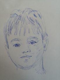 Junge, Zeichnung, Zeichnungen,