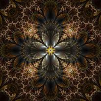 Ornament, Kaleidoskop, Fraktalkunst, Digitale kunst
