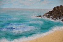 Ufer, Malerei, Meer, Sommer