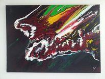 Naturgewalt, Gelb, Vulkan, Rot schwarz