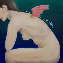 Akt, Flügel, Schnitt, Malerei