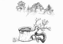Baum, Rückenwirbel, Wald, Baumstumpf