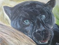 Augen, Zähne, Panther, Malerei