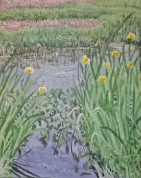 Teich, Magie, Landschaft, Malerei