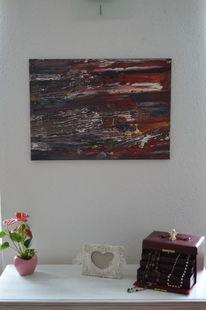 Acrylmalerei, Rakeltechnik, Abstrakt, Malerei