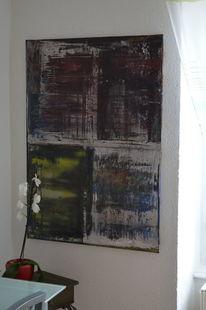 Rakeltechnik, Abstrakt, Malerei,