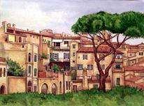 Siena, Aquarellmalerei, Italien, Toskana