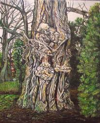 Natur, Erfurt, Baum, Ölmalerei