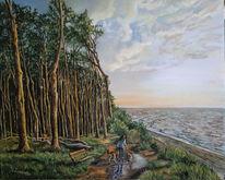 Sonnenuntergang, Wald, Ostsee, Wolken