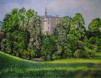 Ettersburg, Weimar, Aquarellmalerei, Aquarell