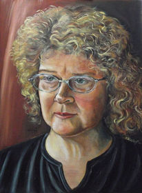 Portrait, Menschen, Ölmalerei, Malerei