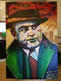 Portrait, Farben, Capone, Malerei