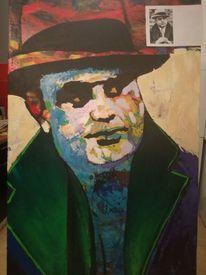 Farben, Capone, Portrait, Malerei