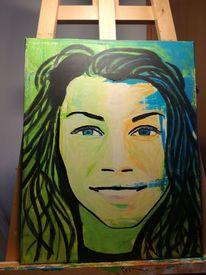Portrait, Geburtstag, Spontan, Malerei