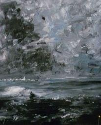 See, Landschaft, Sturm, Wolken