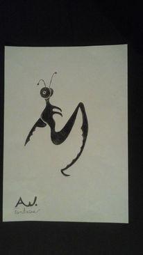 Abstrakt, Mischtechnik, Zeichnung, Zeichnungen