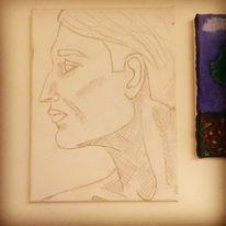 Zeichnung, Mann, Ausdruck, Zeichnungen