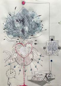 Energie, Baum, Unendlichkeit, Skizze